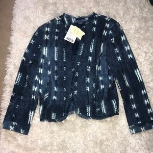 Anthropologie cropped cloth jacket blazer XS